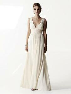 Image Is Loading Authentic Anne Barge Osmonde Creme Silk Chiffon Wedding