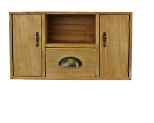 Small-Compact-Wooden-Storage-Cabinet-Unit-Table-Shelf-With-Cupboards-And-Drawer