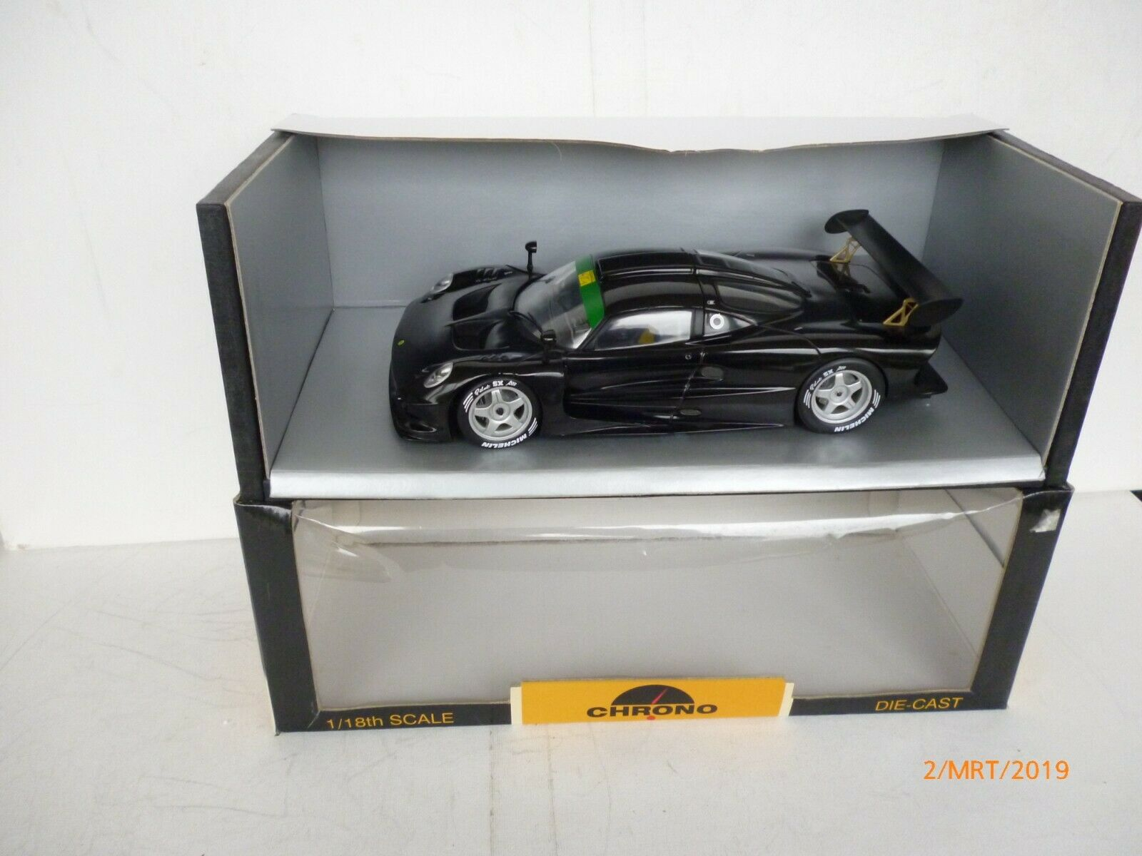 1 18 Chrono Lotus Elise GT1 Presentation '97 nero  nero MIB NEW IN BOX