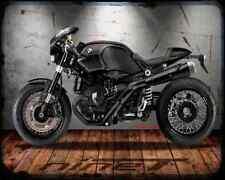 BMW R NineT Negro Alma A4 Foto Impresión moto antigua añejada De