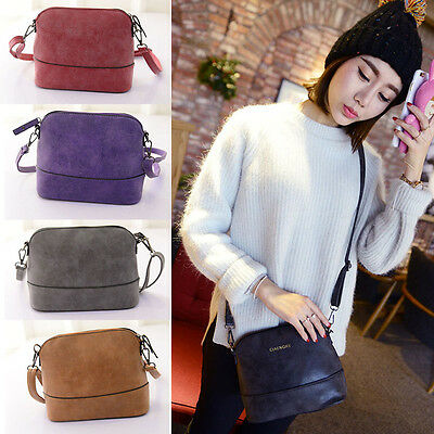 Women Scrub Shoulder Bag Handbag PU Leather Purse Satchel Messenger Bag Hottest