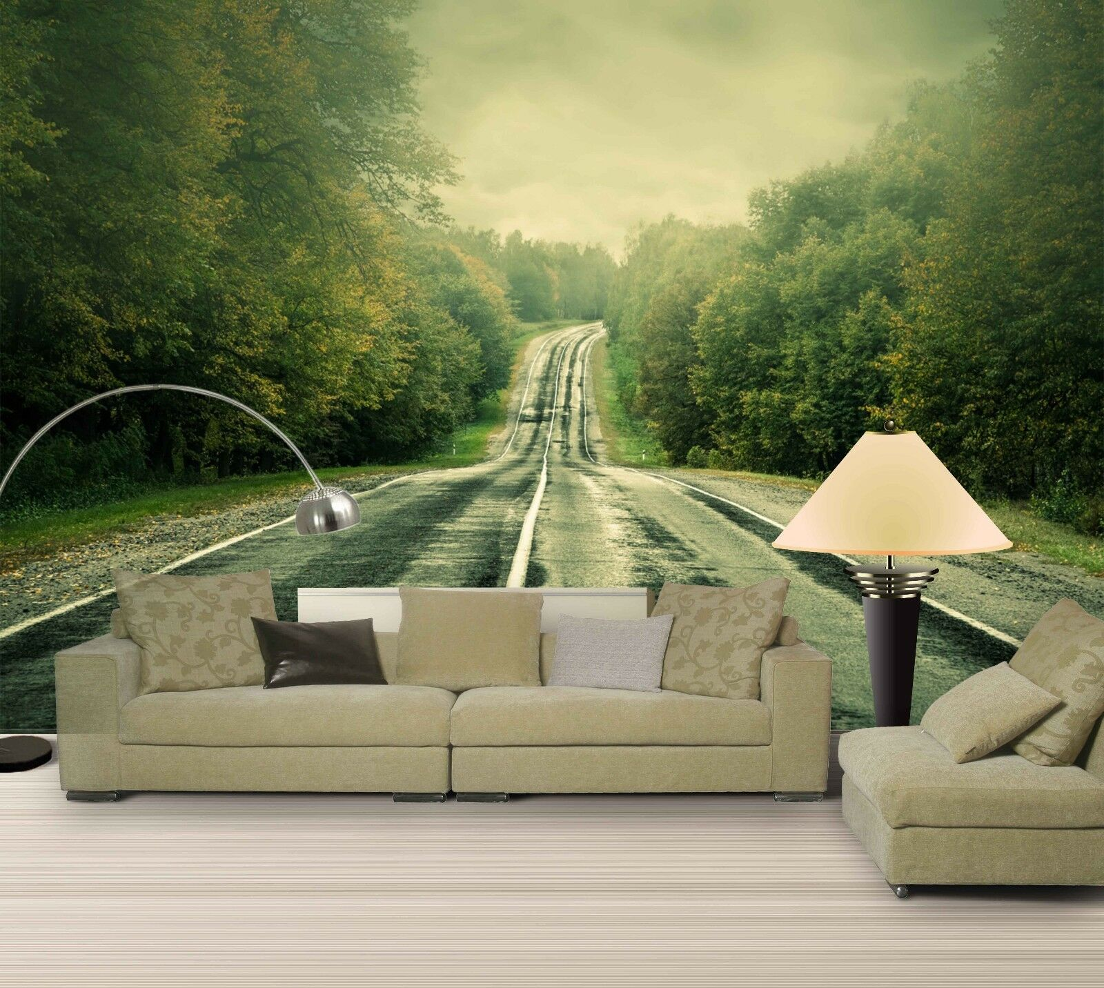 3D Highway Tree 6 Wallpaper Murals Wall Print Wallpaper Mural AJ WALL AU Lemon