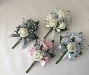 Image Is Loading Wedding Onhole Corsage Las Flowers Mothers Pin On