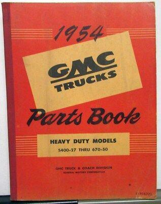 NEW 1949-1952 GMC TRUCK HEAVY DUTY MASTER PARTS BOOK
