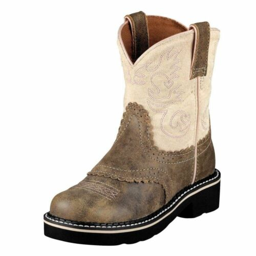 10001995 ARIAT CHILDREN//YOUTH BROWN BOMBER//PINK COWBOY~COWGIRL WESTERN BOOTS