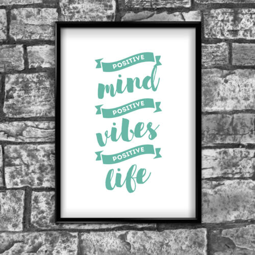 Motivational Inspirational Positive Thoughts Quote Vibes Poster Print Wall 110