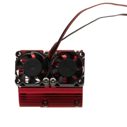 1*Motor Heatsink With Twin Cooling High-Speed Fan For TRAXXAS 1//10 SUMMIT E-REVO