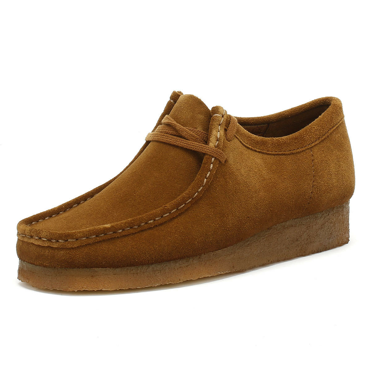 Clarks Originals Wallabee Mens Cola Lace Up Suede Casual shoes