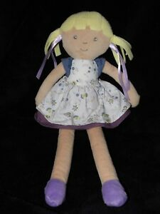 M-amp-S-DOLL-WHITE-DRESS-COMFORTER-DOUDOU-BLONDE-HAIR-MARKS-AND-SPENCER-SOFT-TOY