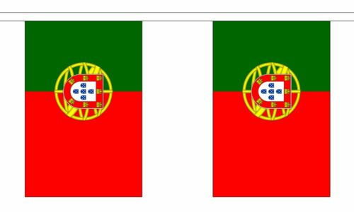 6m long with 20 Flags Portugal Polyester Flag Bunting