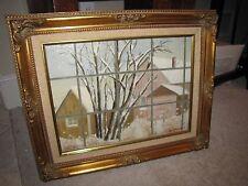 "GUY WIGGINS Original Oil Painting on Board 12""x16"" Farm Scene"