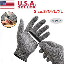 1 Pair Safety Cut Proof Stab Resistant Butcher Gloves Kitchen Level 5 Protection