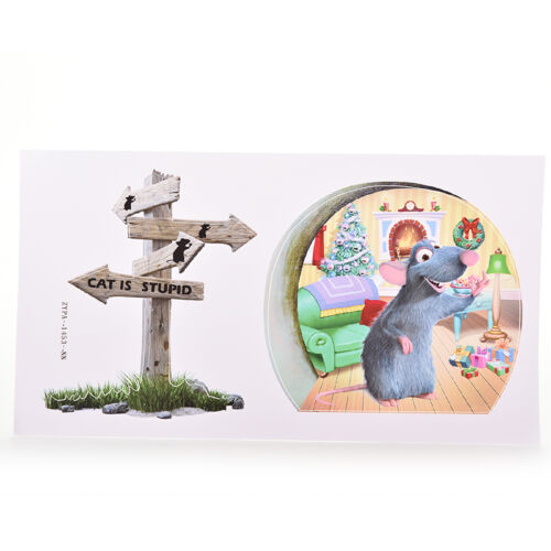 Funny Mouse Hole Wall decals Removable sticker kids DIY Art Nursery Corner De HI
