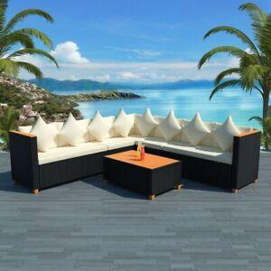 vidaXL-Garden-Sofa-Set-25-Piece-Wicker-Poly-Rattan-Black-WPC-Outdoor-Furniture