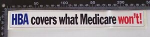VINTAGE-HBA-COVERS-WHAT-MEDICARE-WON-039-T-INSURANCE-ADVERTISING-PROMO-STICKER