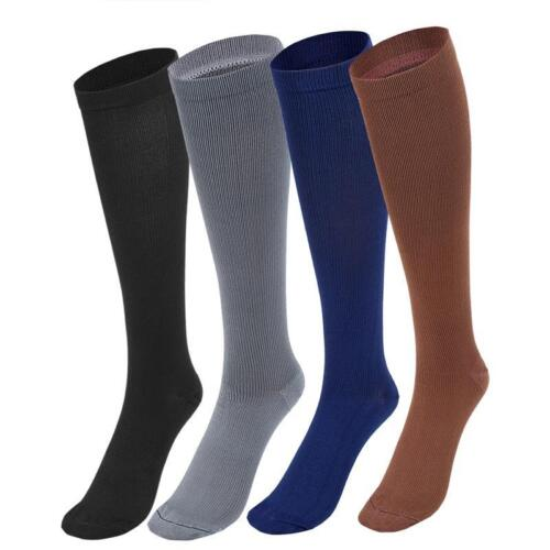 4 Pair Compression Socks Long Knee High Sports Sock Stocking Graduated Women Men