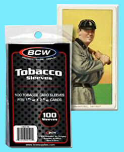 100-BCW-TOBACCO-SIZE-SOFT-CARD-SLEEVES-Trading-Sport-Allen-Ginter-T-206-X-wing