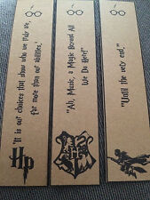 Harry Potter Bookmarks - Hp, Hogwarts, Dumbledore. Great Gift. Set of 3.