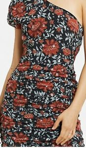 STEVIE-MAY-floral-Silk-Sublime-One-Shoulder-Dress-Sz-8-10-Rrp-190