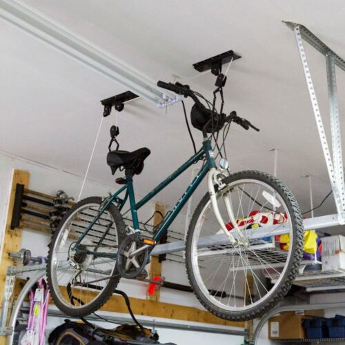 2-Bike Lift Hoist Garage Ceiling Pulley Hanger Bicycle Storage Rack BL-71122-2