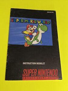 SUPER MARIO WORLD - Instruction Booklet Manual Original Book SNES SUPER NINTENDO