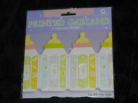 Baby Shower Newborn Boy Girl Garland Decorations Bottles 8 Feet Across