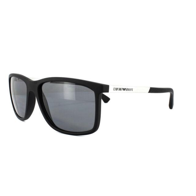 dc0b054430c Sunglasses Emporio Armani Ea4058 506381 Black Rubber Polarized for ...
