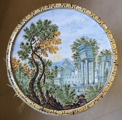 alzatina in maiolica Castelli XVIII Sec. | eBay