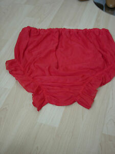 Adult-Nylon-Schwitz-Hose-Spiel-Hose-Baby-Rot-Transparent-Hose