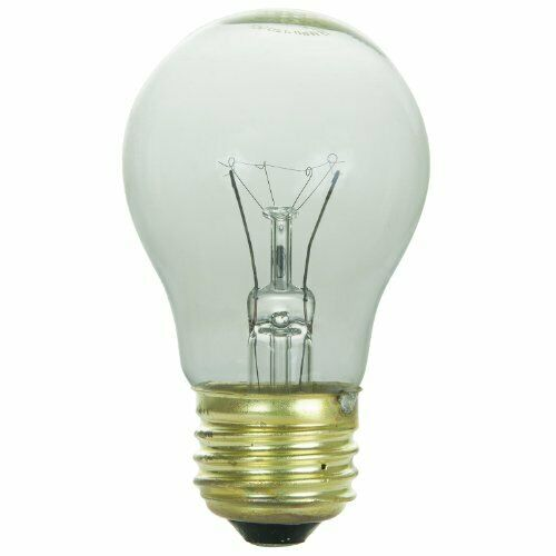 Lot of 25 A15 Medium Base E26 40W 120V Long Life Frosted Appliance Light Bulbs