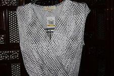 MICHAEL Michael Kors Printed Faux-Wrapped Dress $120 Sizes  Sm, M, L, X-Large
