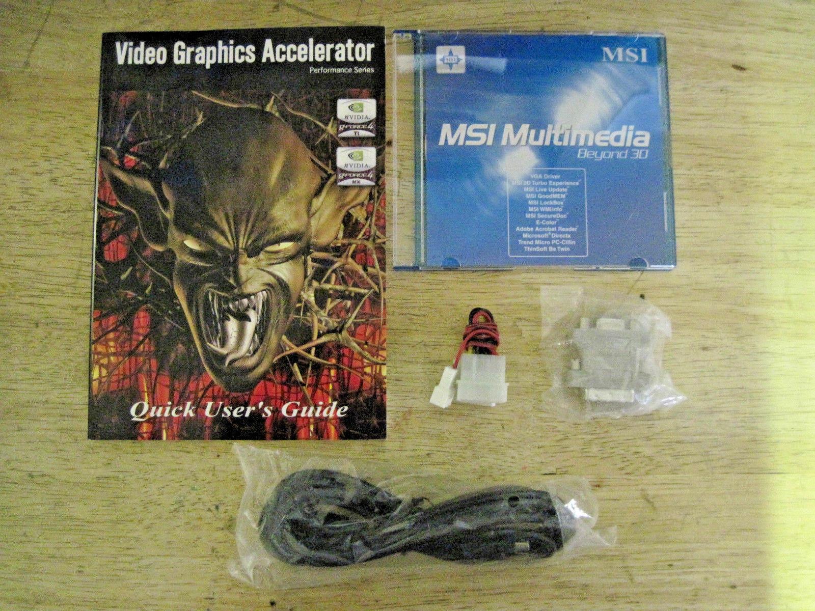 MSI NVIDIA GeForce4 Ti 4800 SE (TI4800SEVTD8X) 128 MB DDR SDRAM AGP 4x/8x