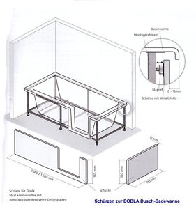 hsk sch rze f r dusch badewanne dobla 160 cm nach eck. Black Bedroom Furniture Sets. Home Design Ideas