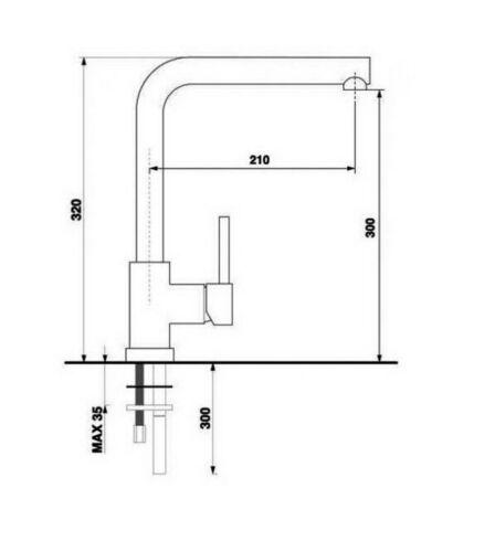 Systemceram Einhebelmischer RUBIC Hochdr Chrom//Magnolie Hersteller-NP 535 €,OVP