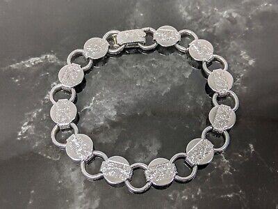 Silver Section Charm Holder Bracelet