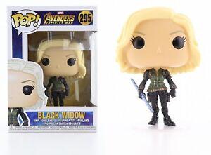 Funko-Pop-Marvel-Avengers-Infinity-War-Black-Widow-Bobble-Head-Item-26468