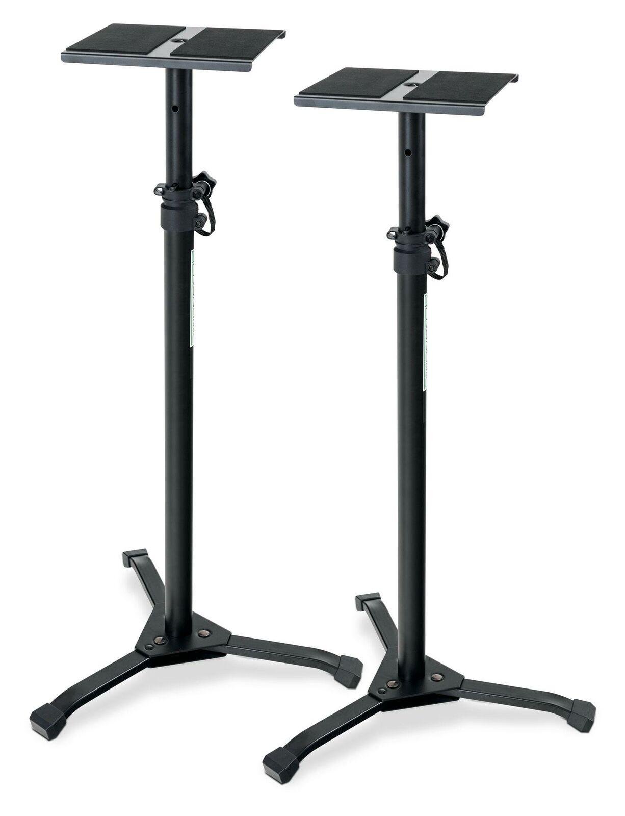 acquista marca 2 supporto pratico in acciaio con con con piedini klapppbaren per studio monitor box  vanno a ruba