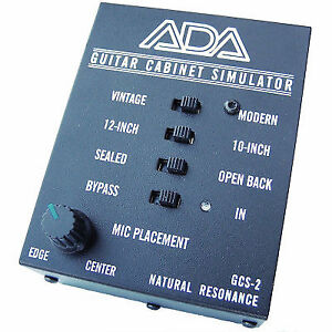 Ada Gcs 2 Natural Resonance Guitar Cabinet Simulator And Di Cab