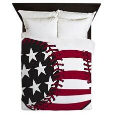 CafePress Flag Baseball Queen Duvet 1065385017