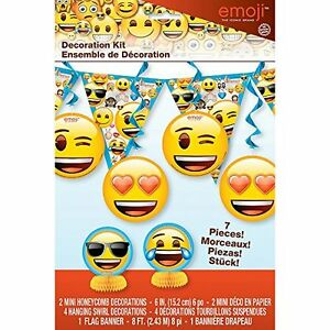 Image Is Loading EMOJI DECORATION KIT 7pc Birthday Party Supplies IPhone