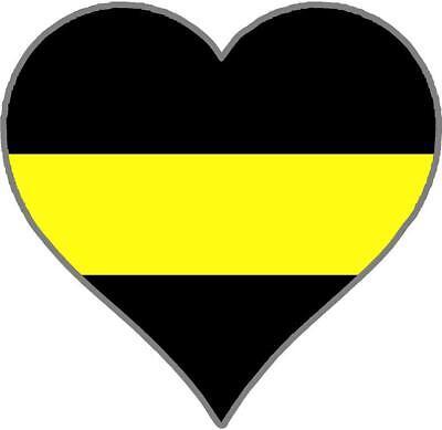 Security Guard Thin Yellow Line Spartan Helmet Vinyl Decal Sticker