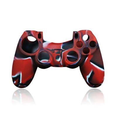 Funda protectora de silicona para mando de play station 4 PS4 negra roja