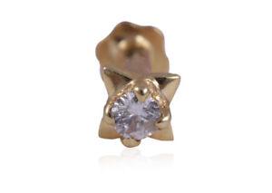 0-03-Cts-Runde-Brilliant-Cut-Natuerliche-Diamanten-Nasenstecker-In-750-18K-Gold