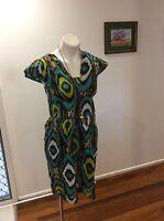 Womens Boom Shankar Green Hues Rio Dress Size 12