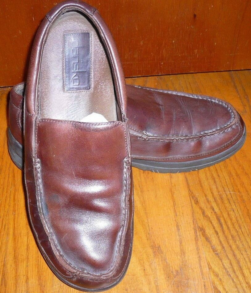 DANSKO Brown Leather Slip On Moc Toe Loafers shoes Men's Size EU 46 US 12.5-13 M