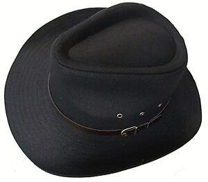 New Mens Womens Stetson Aussie wide brim cowboy hat faux leather ... bbf4878bcb1