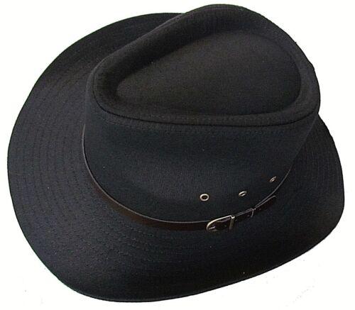 Cowboy Hat Stetson Aussie wide brim faux leather band Black Festival Mens Womens