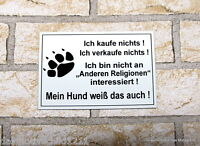Achtung Hund,Hundeschild,Warnschild,Gravurschild,12 x 8 cm,Freilaufender Hund