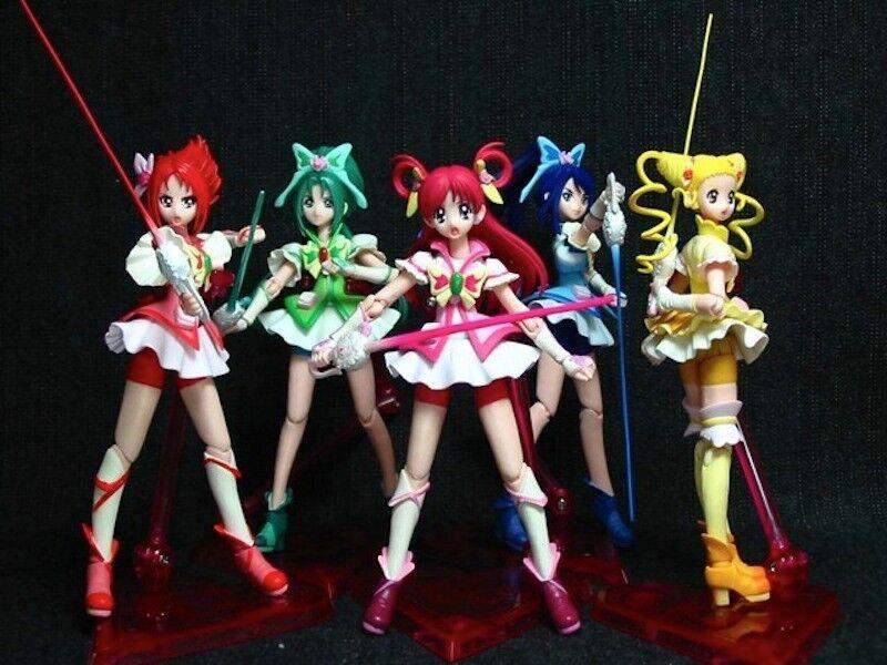 Yes  Pretty Cure 5 Go Go Dream Mint red Aqua SHF S.H.Figuarts Figure Set Japan