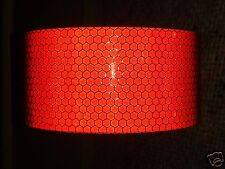 3M X 25MM ORAFOL ORALITE HIGH INTENSITY REFLECTIVE TAPE RED SELF ADHESIVE VINYL